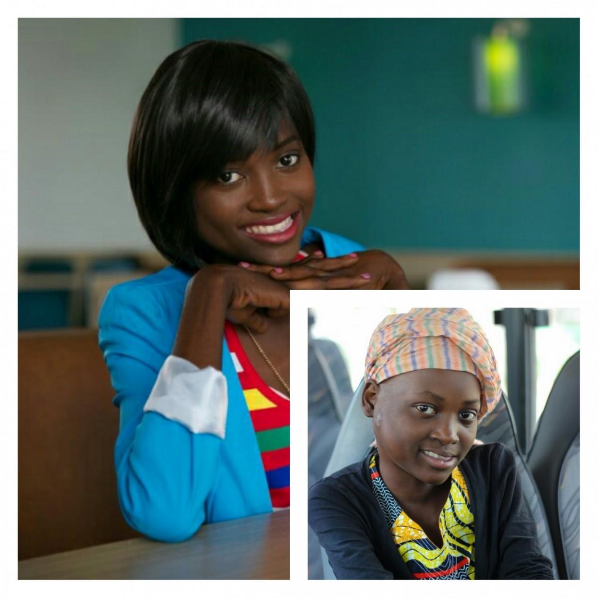Dorcas 17 ans malade d'un cancer du coup. Avant et après son relooking
